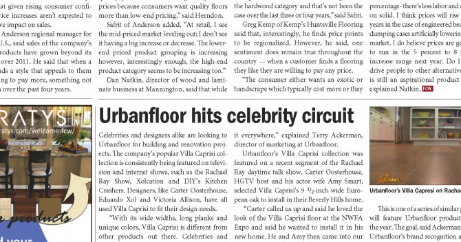 Urbanfloor Hits Celebrity Circuit