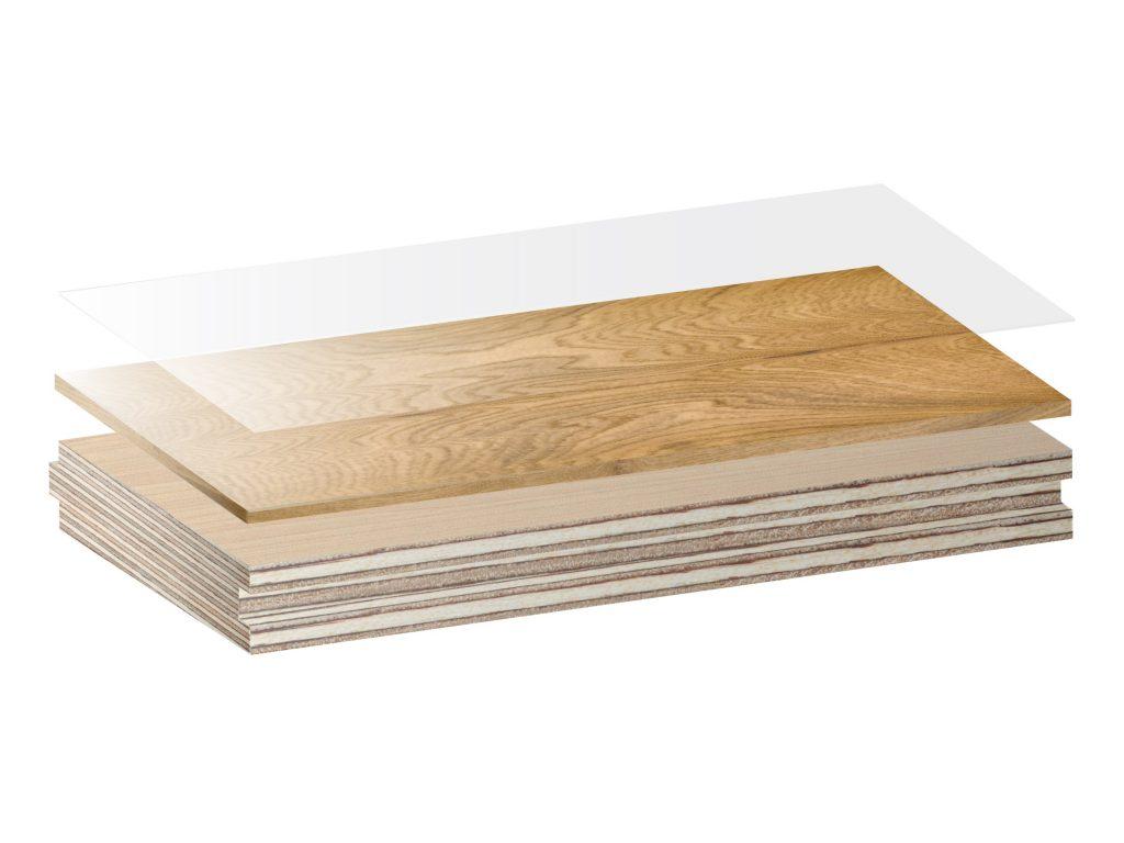 Graphic showing how Urbanfloor engineered hardwood is constructed